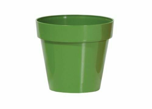 Blumentopf CUBE SHINE dunkelgrün glänzend 11cm