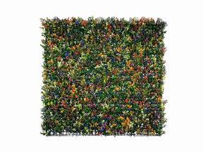 Kunstblumenpaneel Buxus bunt - 50x50 cm