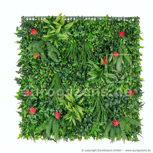 Künstliche Blumentafel - 100x100cm