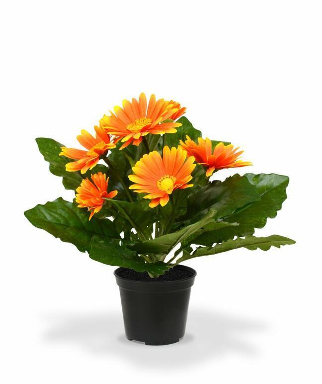 Künstliche Gerberapflanze orange 30 cm