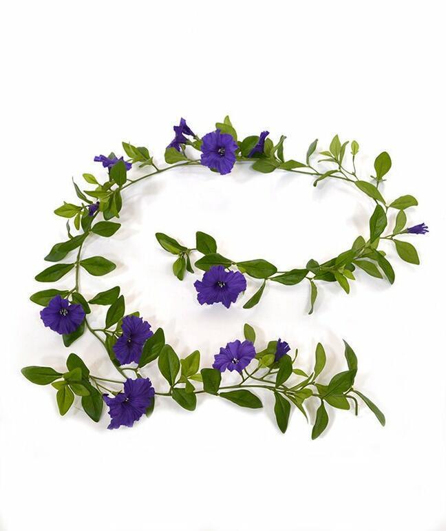 Künstliche Girlande Petunie lila 180 cm
