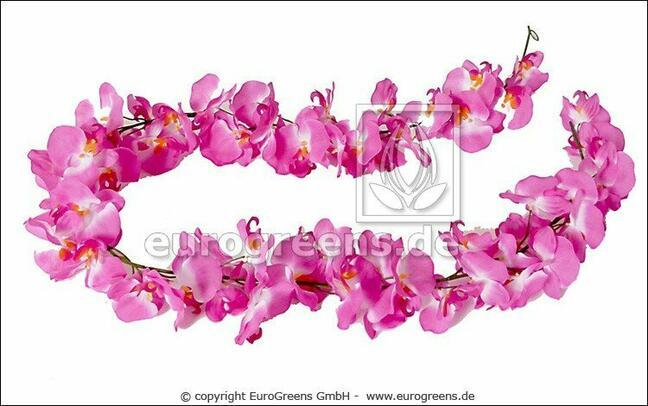 Künstliche Girlande Pink Orchid 200 cm