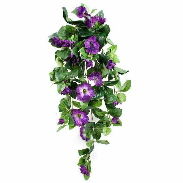 Künstliche Petunienranke lila 80 cm