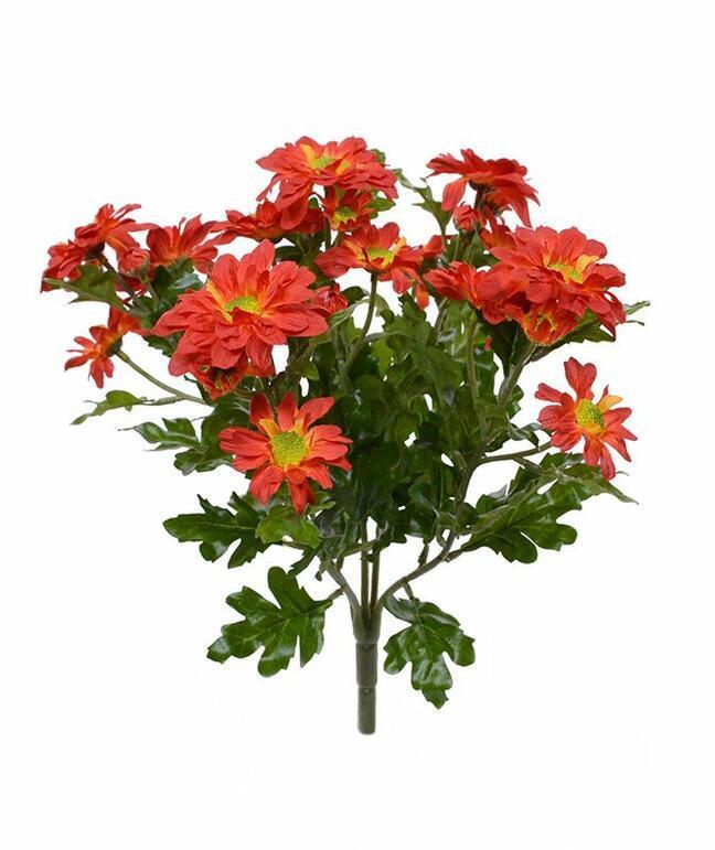 Künstliche Pflanze Chrysantheme orange 35 cm