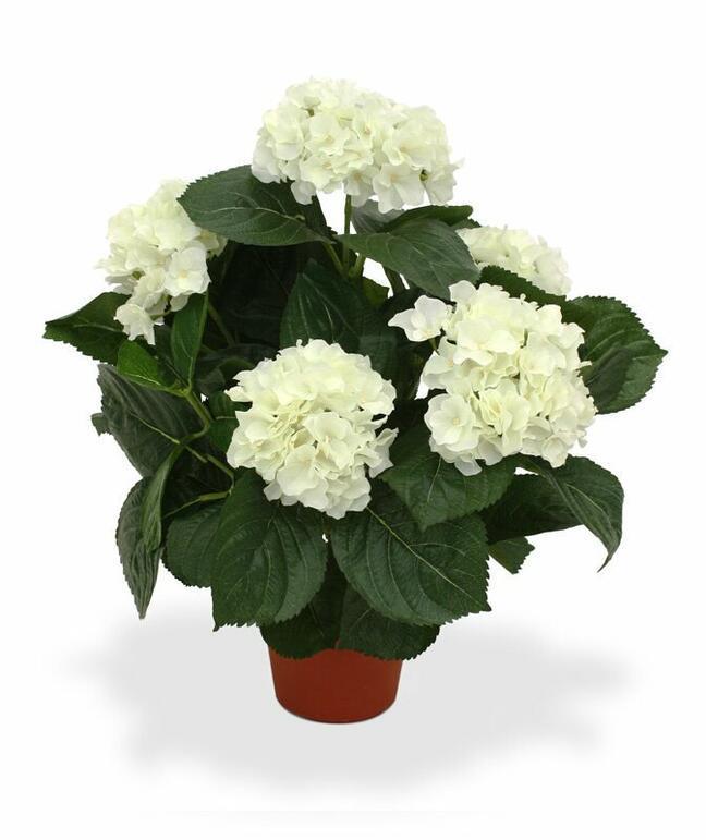 Künstliche Pflanze Hortensie Creme 45 cm