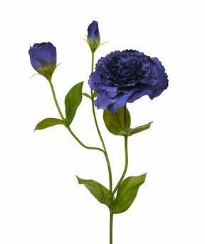 Künstlicher Ast Eustoma blau 80 cm