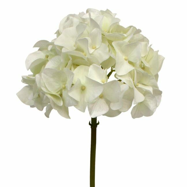 Künstlicher Ast Hortensie weiß 50 cm