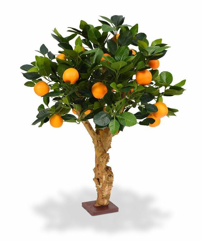 Künstlicher Bonsai Zitrone orange 65 cm