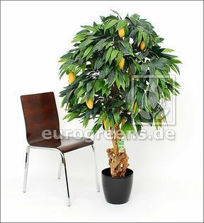 Künstlicher Mangobaum mit Früchten 120 cm