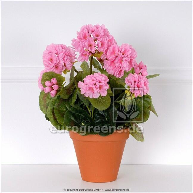 Künstlicher Strauß Geranie rosa 40 cm