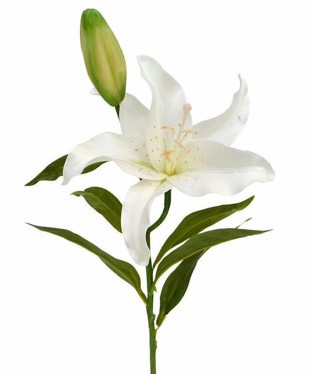 Künstlicher Zweig Cremefarbene Lilie 55 cm