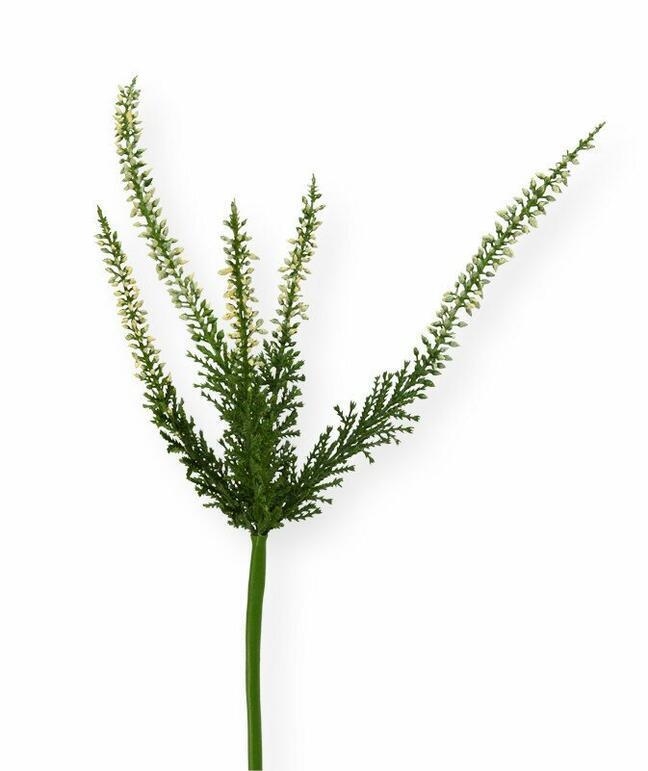 Künstlicher Zweig Heidekraut creme 56 cm