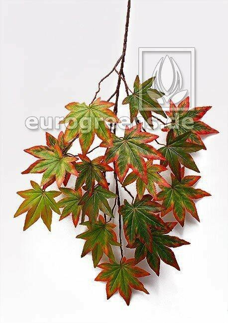 Künstlicher Zweig Herbstahorn grün 80 cm