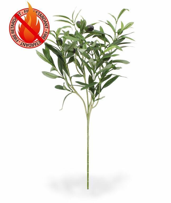 Künstlicher Zweig Olivenbaum mit Oliven 54 cm
