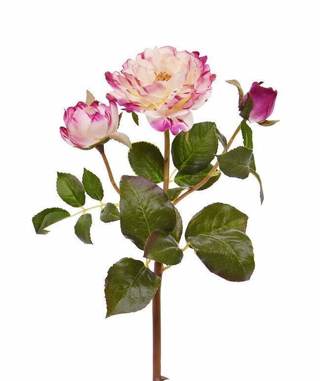 Künstlicher Zweig Rosa Rose 50 cm