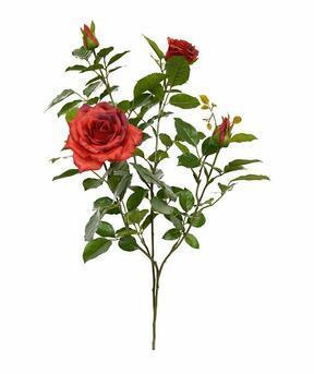 Künstlicher Zweig Rote Rose 70 cm