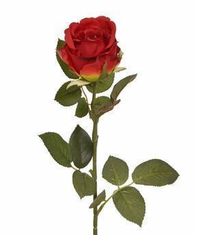 Künstlicher Zweig Rote Rose 74 cm