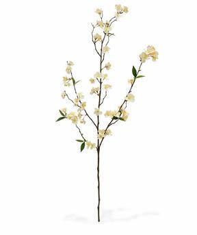 Künstlicher Zweig Sahnekirsche 120 cm