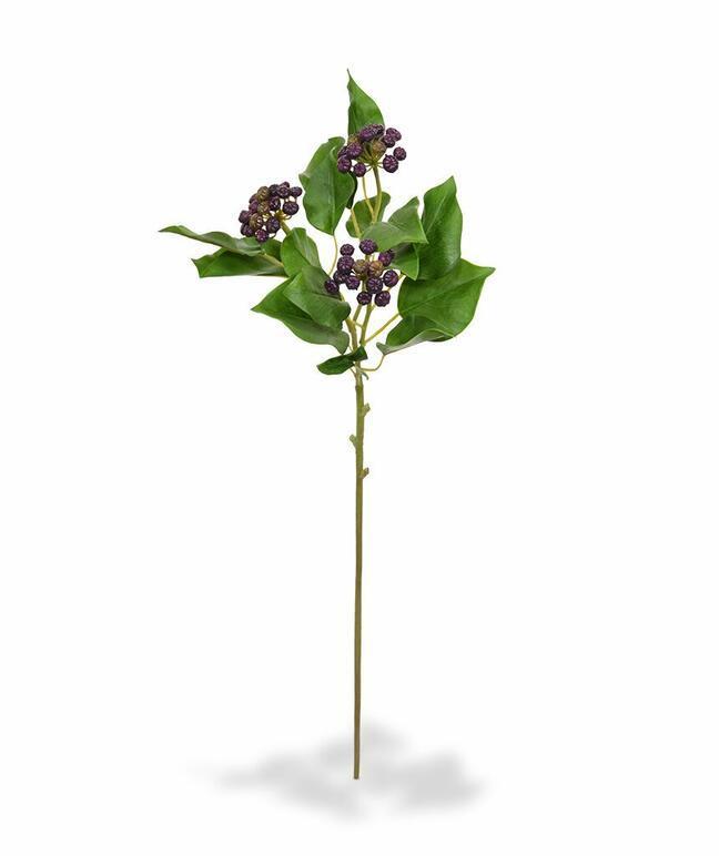 Künstlicher Zweig Stechpalme Stechpalme gerändelt blau 60 cm