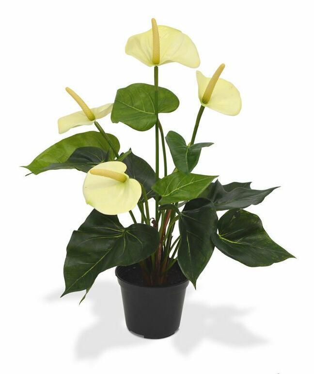 Kunstpflanze Anthurie weiß 40 cm