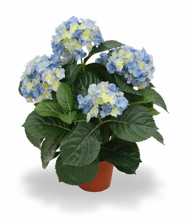Kunstpflanze Hortensie blau 45 cm