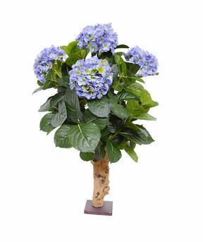 Kunstpflanze Hortensie blau 65 cm