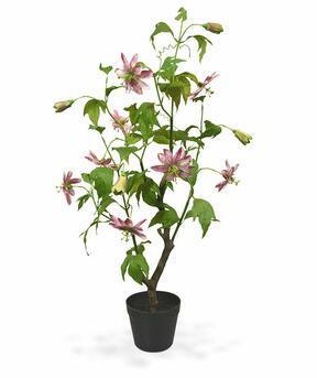 Kunstpflanze Passionsfrucht rosa 90 cm