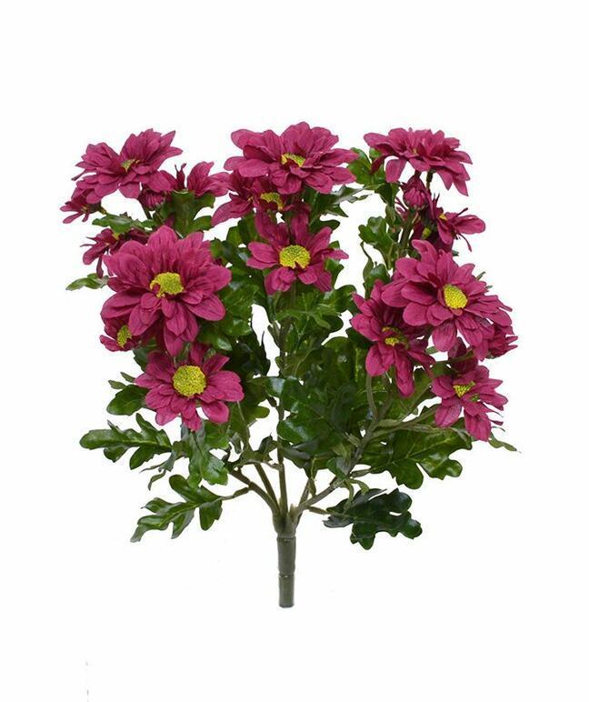 Kunstpflanze Rot-Burgunder Chrysantheme 35 cm
