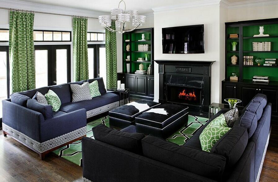Luxusná obývacia izba.