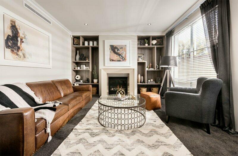 Útulná obývacia izba.