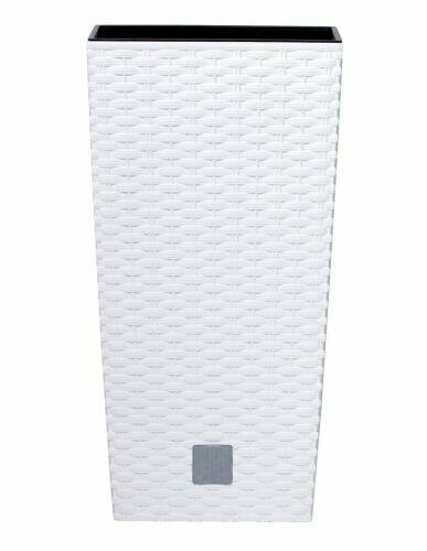 RATO SQUARE Blumentopf + weißer Einlage 22,5 cm